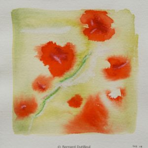 A_2017_01 - 15,5 x 15,5 cm -  Technique : aquarelle, craie