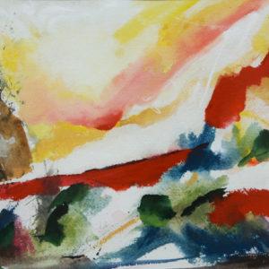 A_2017_04 - 30,5 x 22,5 cm - Technique : aquarelle, craie, encre