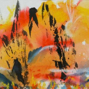 A_2017_06 - 30 x 20 cm - Technique : aquarelle, craie, encre