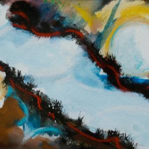 A_2017_07 - 33 x 22 cm - Technique : aquarelle, craie, encre