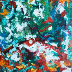 P_2017_11 - 81 x 65 cm - Technique : huile sur toile