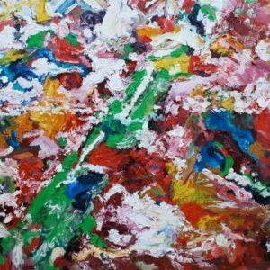 P_2017_20 - 81 x 65 cm - Technique : huile sur toile