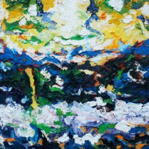 P_2017_26 - 61 x 50 cm - Technique : huile sur toile