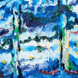 P_2017_34 - 46 x 38 cm - Technique : huile sur toile