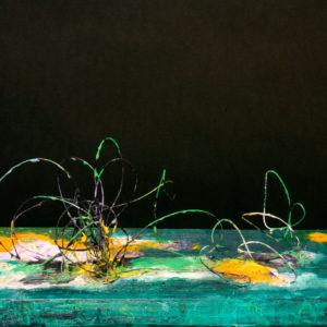 S_2017_01 - 46 x 20 x 20 cm - Technique : fil de fer peint sur bois, acrylique