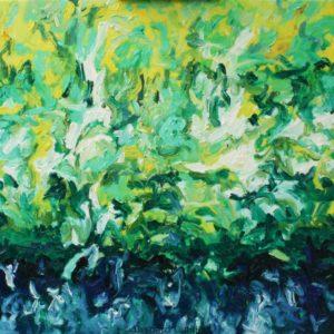 P_2018_15 - 100 x 81 cm - Technique : huile sur toile